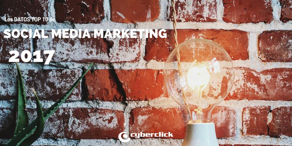 Los datos top 10 en social media marketing para 2017