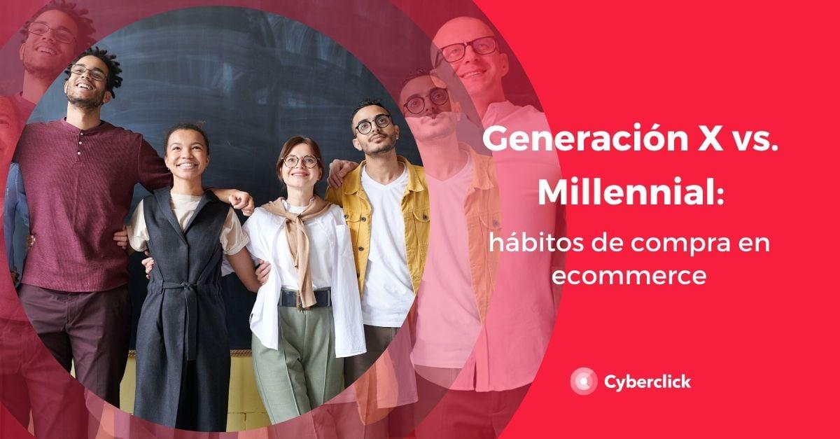 Millennials vs Generacion X habitos de compra en ecommerce