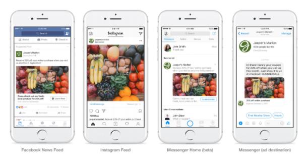Preview publicidad en Facebook Messenger