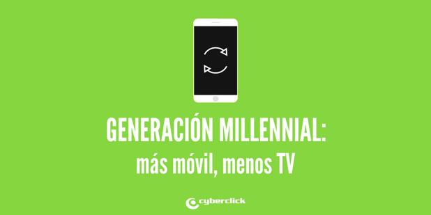 Publicidad digital los millennials usan mas moovil y menos TV