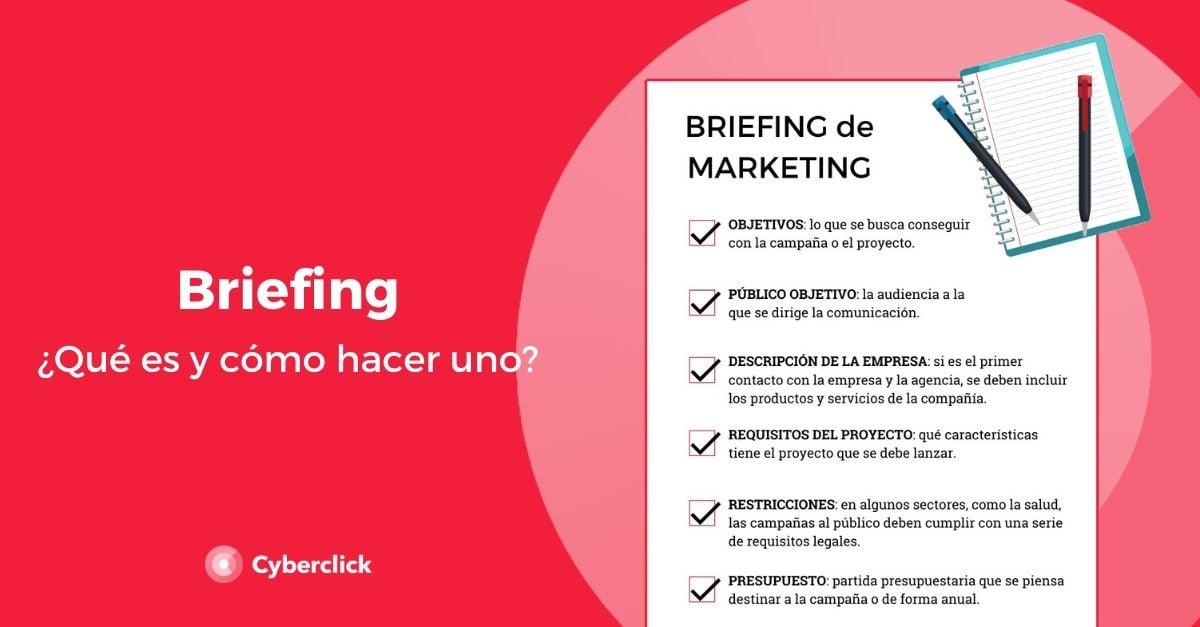 Que es un briefing y como hacer uno en marketing y publicidad