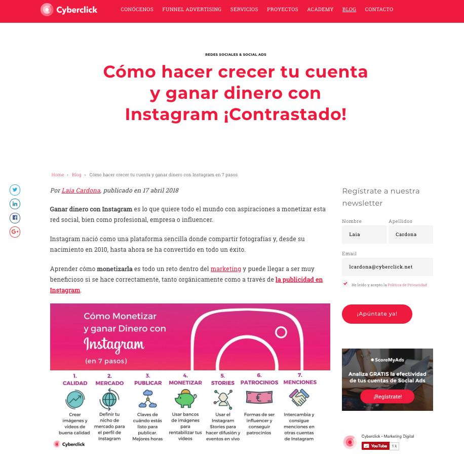 SEO on-page organización información