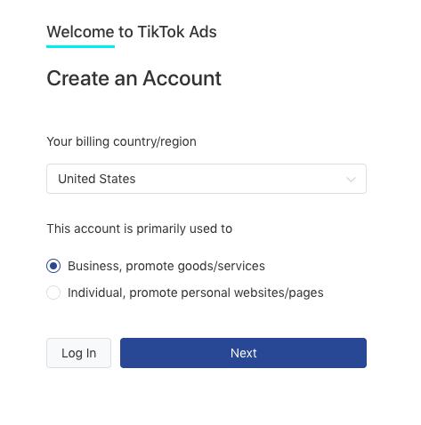 Advertising on TikTok: Creating an Account