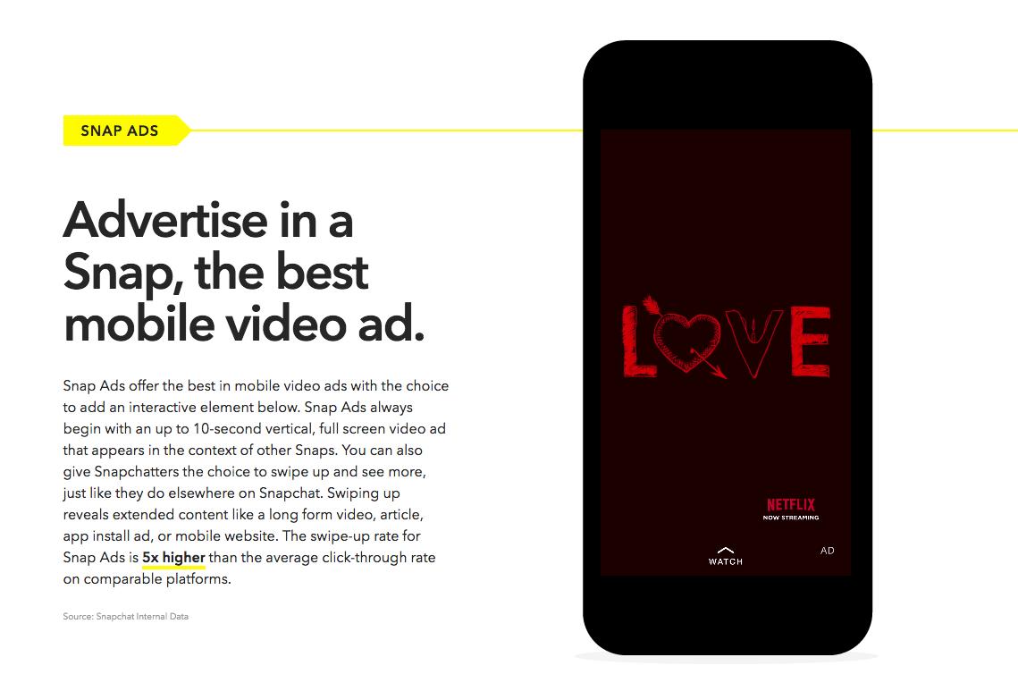 Snap Ads Publicidad en Snapchat