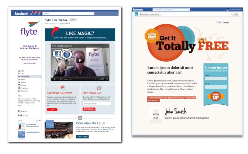Tipos de landing pages - Facebook & Instagram