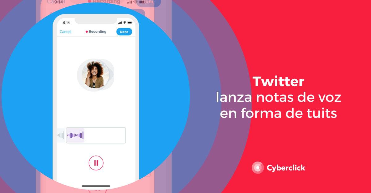 Twitter lanza notas de voz en forma de tweets
