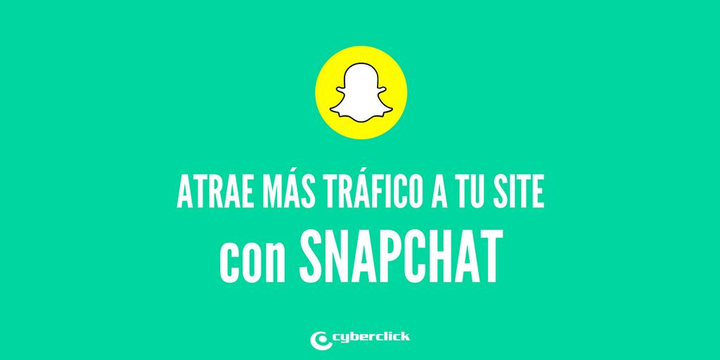 Vincula tu web con Snapchat para ganar trafico organico