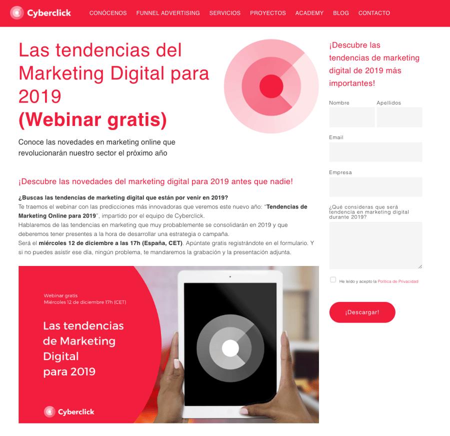 Webinars Cyberclick - Inbound Marketing