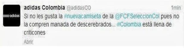 Las 10 pifiadas de Community Managers en Twitter adidas colombia