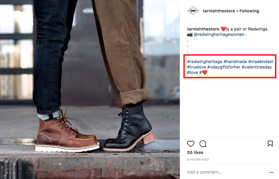 ejemplos de hashtags en instagram - Marketing