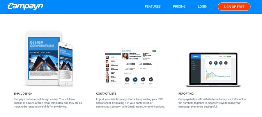 herramientas email marketing - campayn