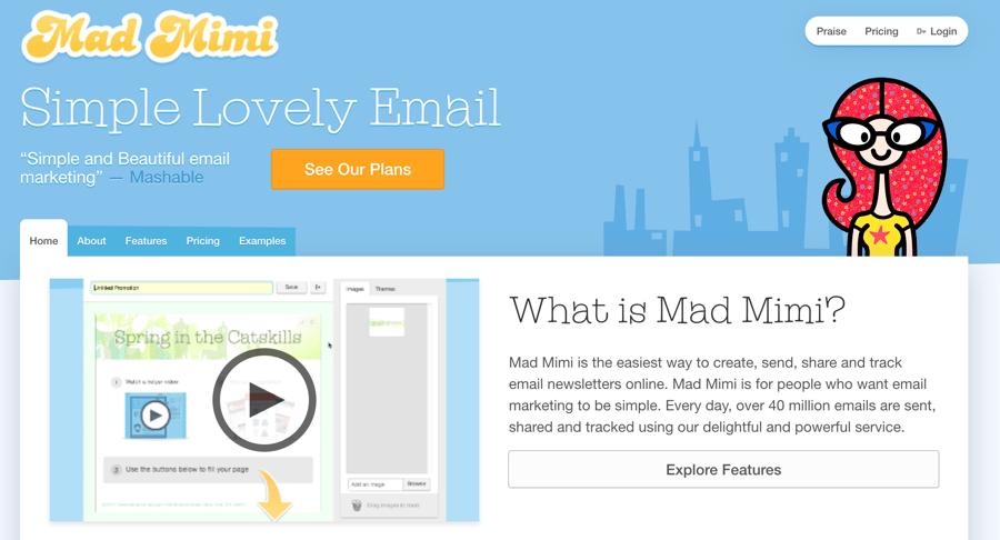 herramientas email marketing - mad mimi