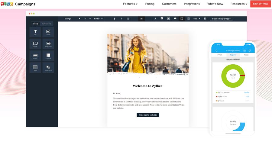 herramientas email marketing - zoho campaings