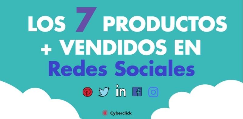 los 7 productos mas vendidos en redes sociales