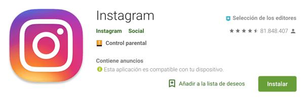 numero de descargas de la app