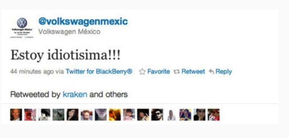 Las 10 pifiadas de Community Managers en Twitter volkswagen