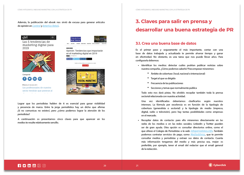 Páginas ebook Inbound Marketing + PR