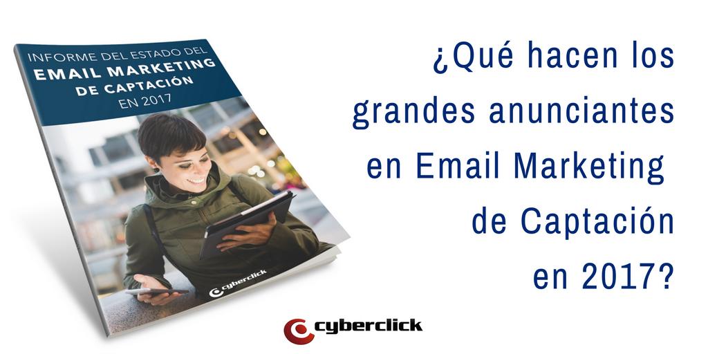 El 35% de los grandes anunciantes publicitarios siguen apostando por el Email Marketing de Captacion