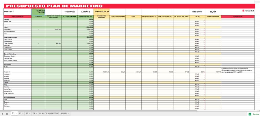 Plantilla Plan de Marketing - Imagen
