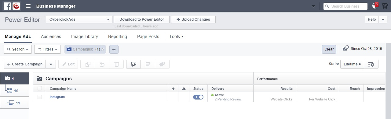 Facebook Power Editor Herramientas de marketing Instagram