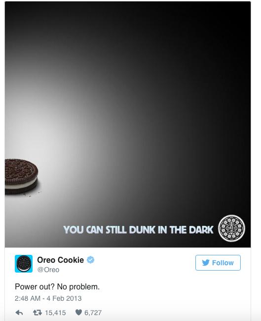 Los 8 mejores tweets de marcas de todos los tiempos Oreo