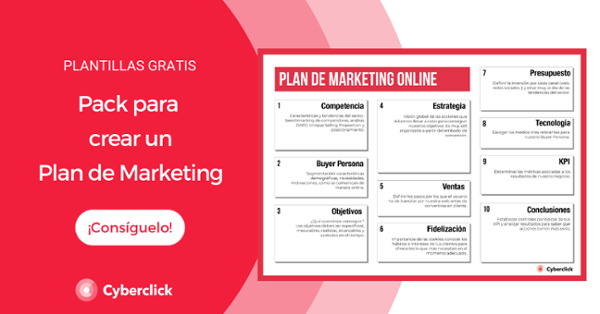 Pack con plantillas para crear un Plan de Marketing efectivo